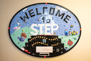 Mosaic sign: Welcome to STEP